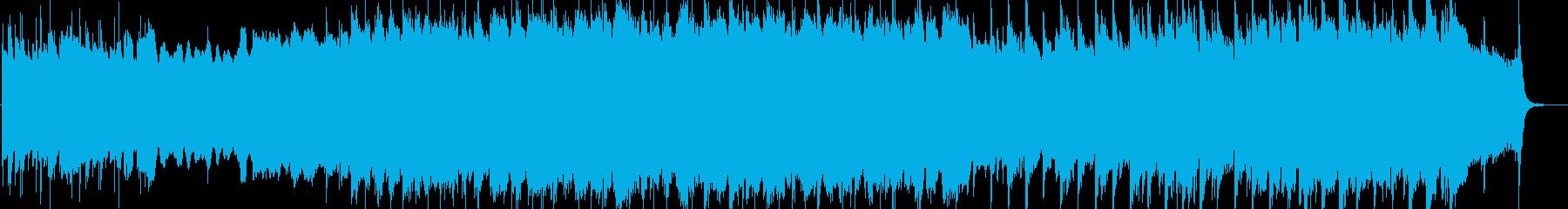 ケルトの儀式的な曲の再生済みの波形