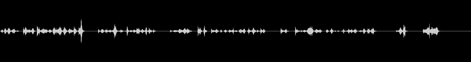 ペンで文字を書いている音の未再生の波形