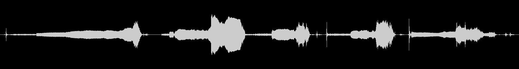 小型高速研削盤:研削、さまざまな開...の未再生の波形
