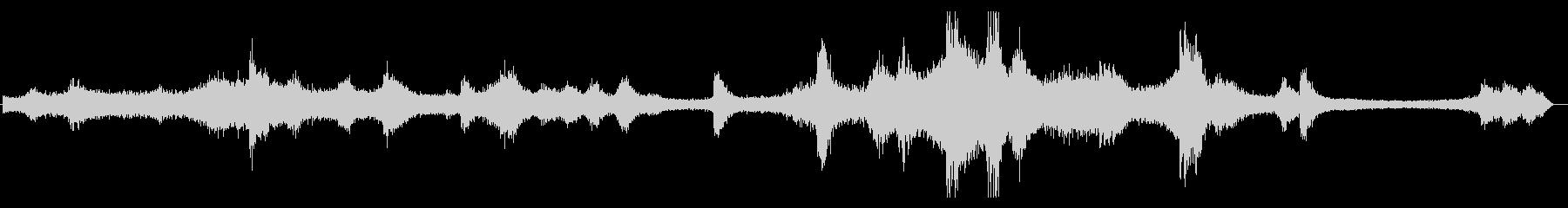 レインボーブリッジの音(歩道部分で録音)の未再生の波形