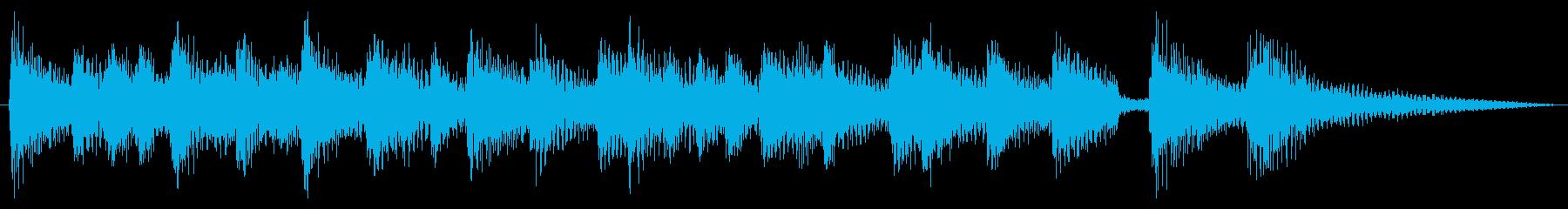 おしゃれ・爽やか・ボサノバジングルの再生済みの波形