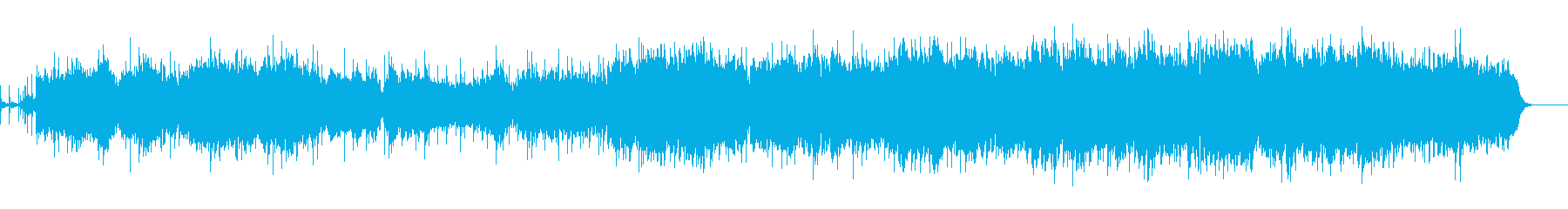和楽器をたくさん使った和風幻想曲の再生済みの波形