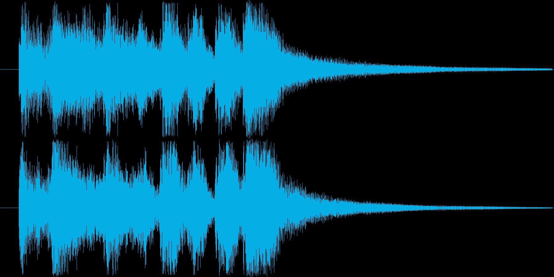 レベルアップやクリア時の効果音・SEの再生済みの波形