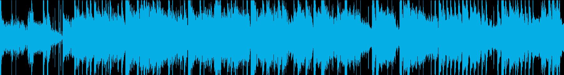 和楽器を用いたゆったりとした和風BGMの再生済みの波形