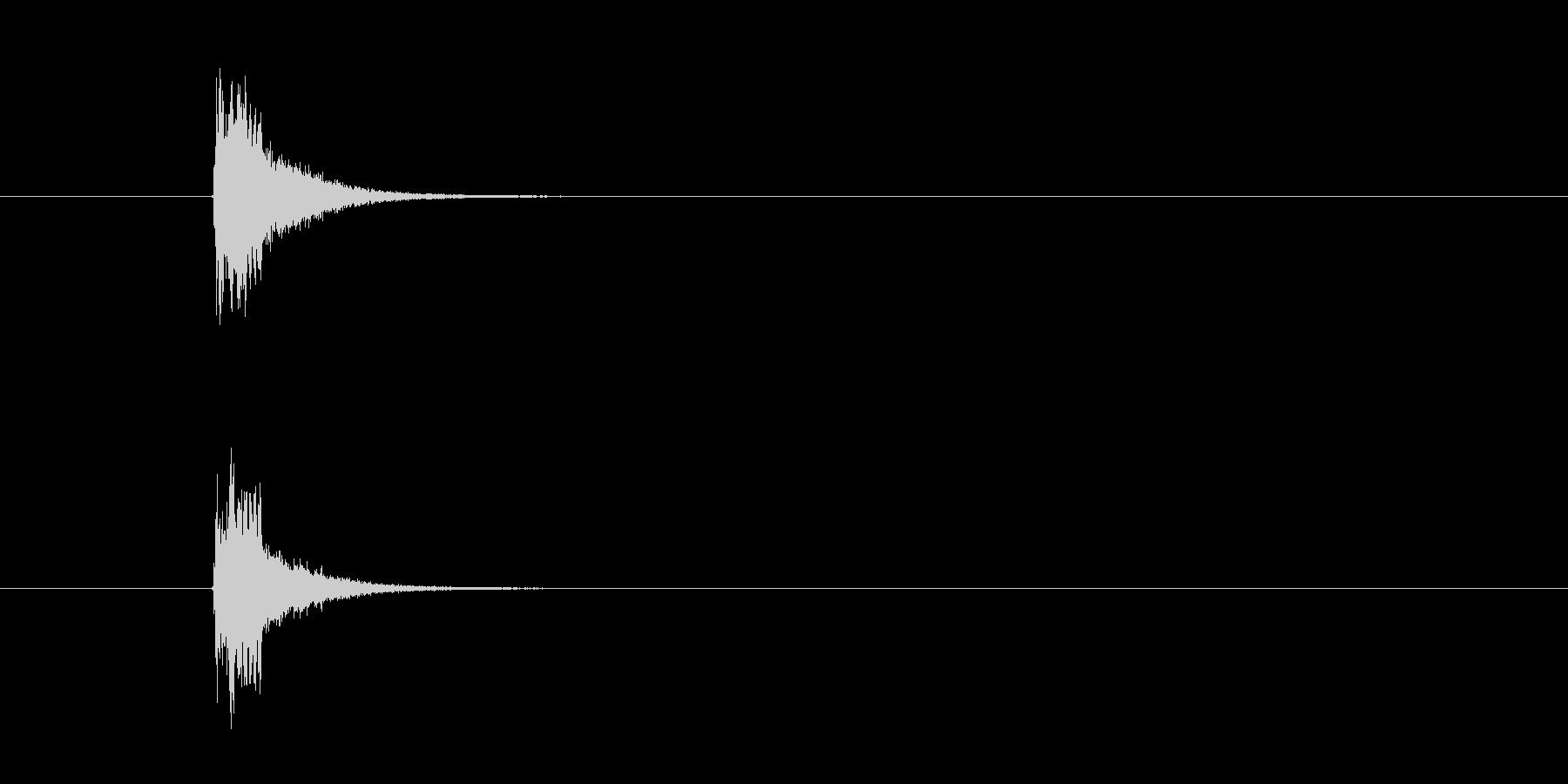 シンバル ホイッスル (すぴっ)の未再生の波形