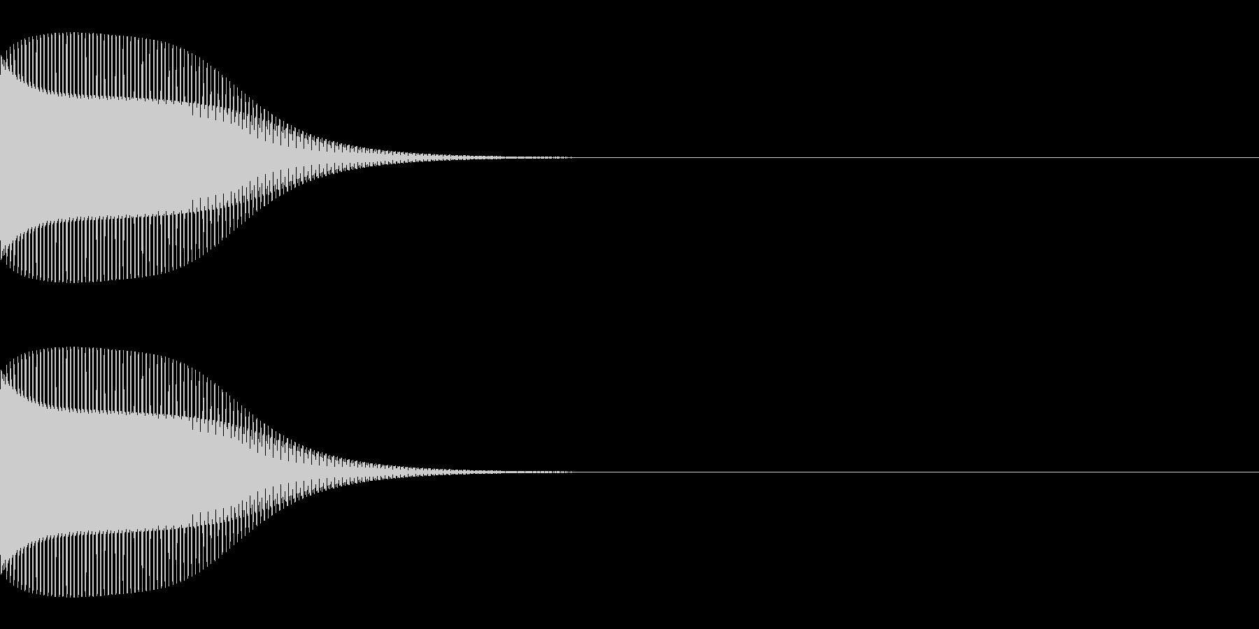 ブンッ(キャンセル/エラー/ピコピコの未再生の波形