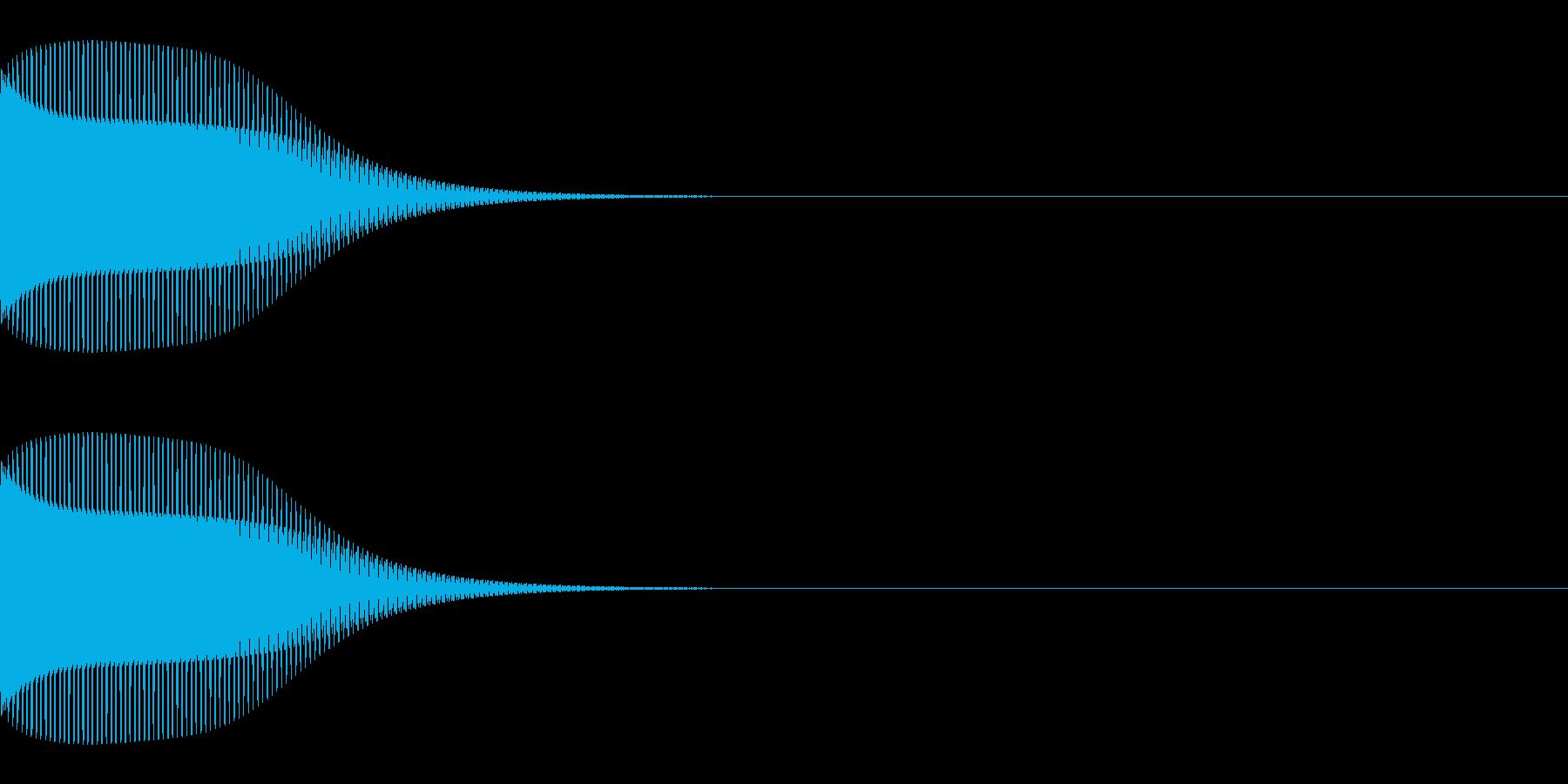 ブンッ(キャンセル/エラー/ピコピコの再生済みの波形