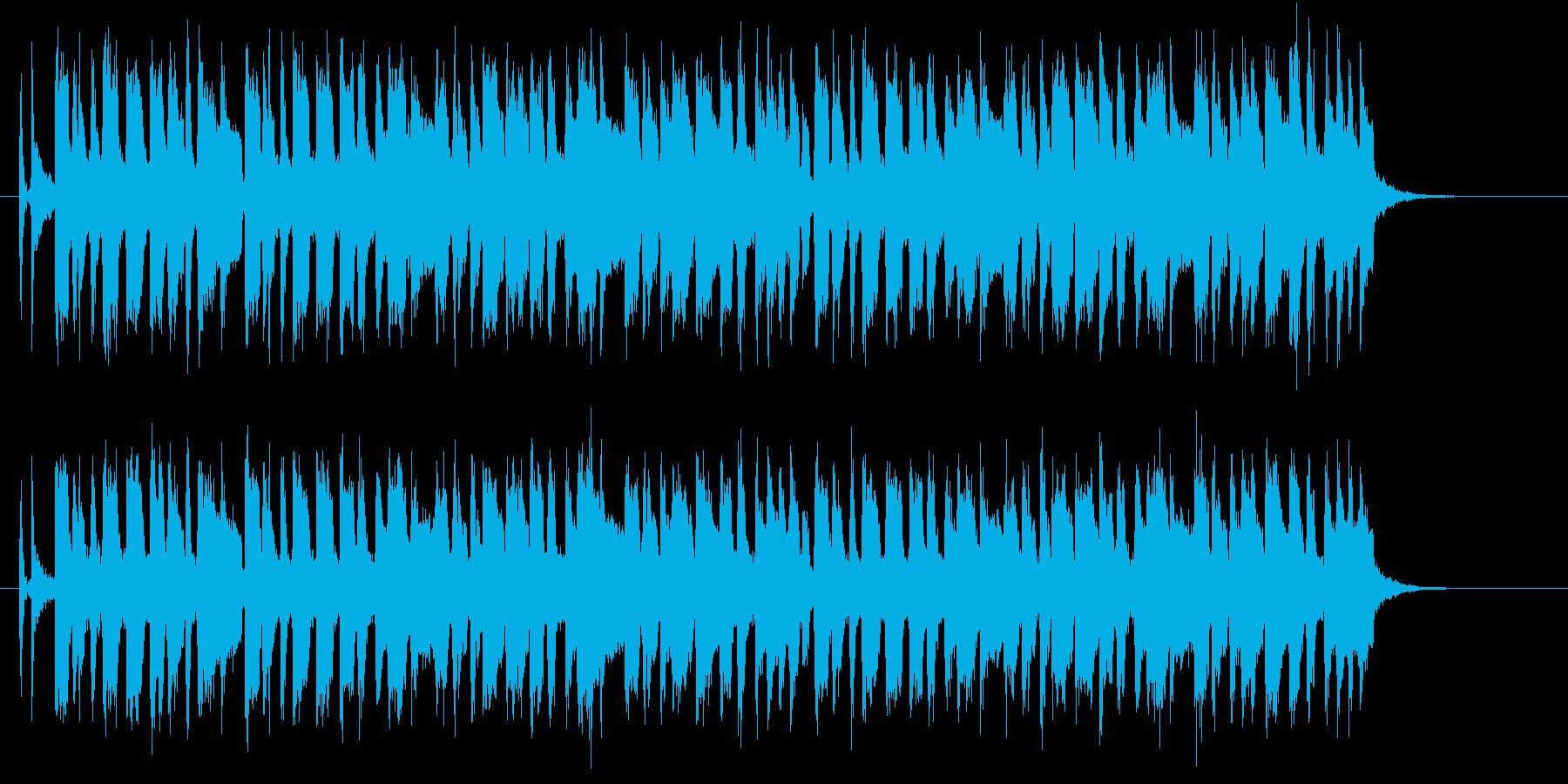 軽快で明るいポップスバンドのジングルの再生済みの波形