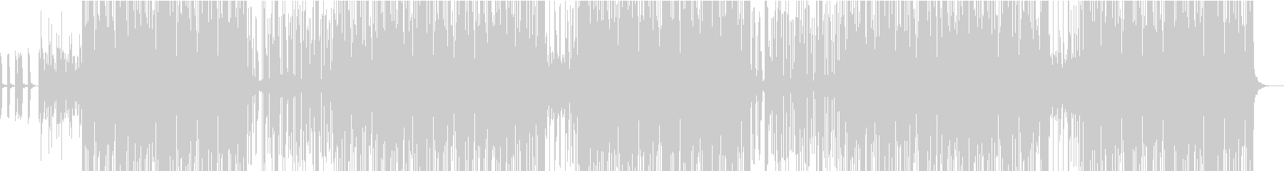 明るい雰囲気のエレクトロの未再生の波形