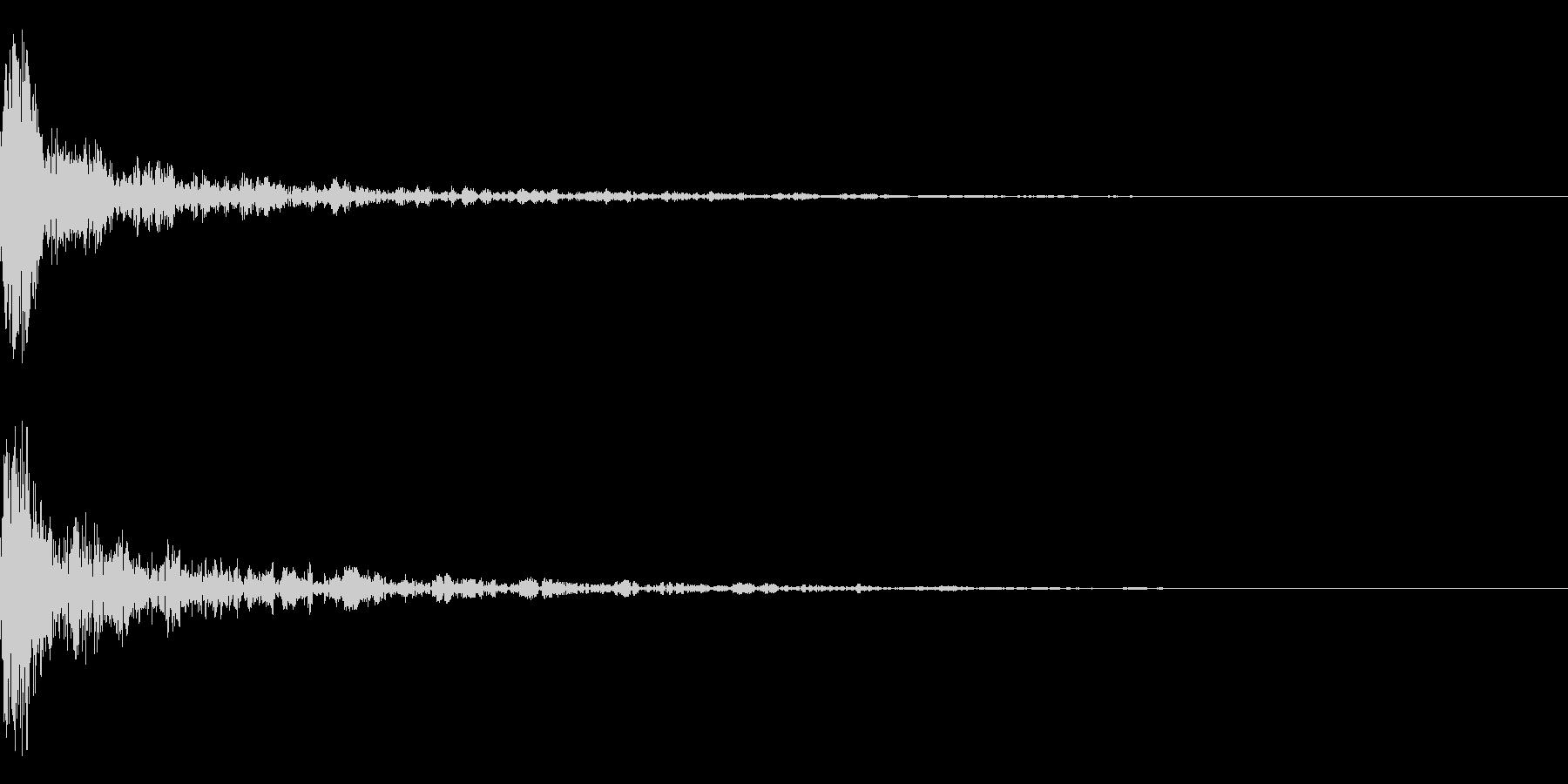 ドーン-21-1 インパクト音)の未再生の波形