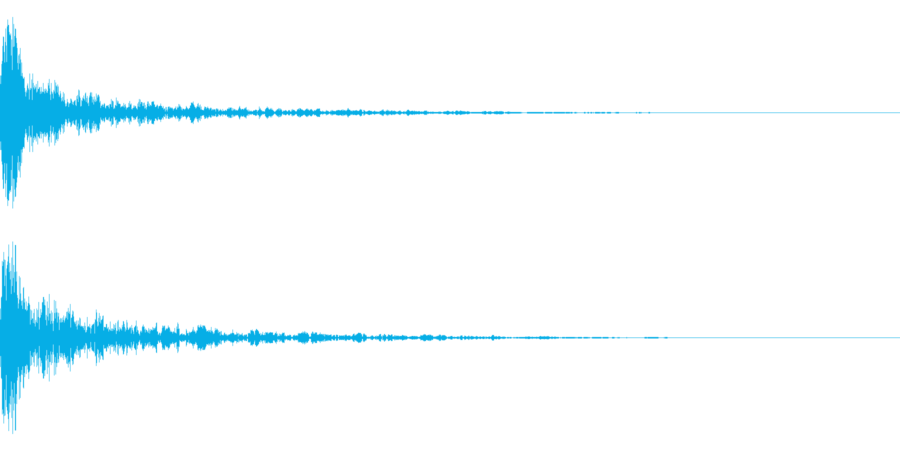 ドーン-21-1 インパクト音)の再生済みの波形