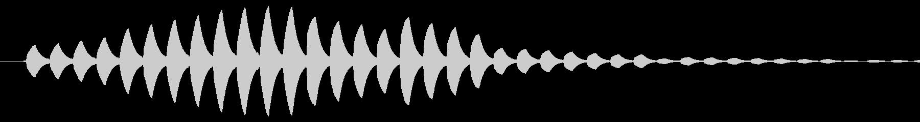 場面転換などで使われているようなピピピ音の未再生の波形