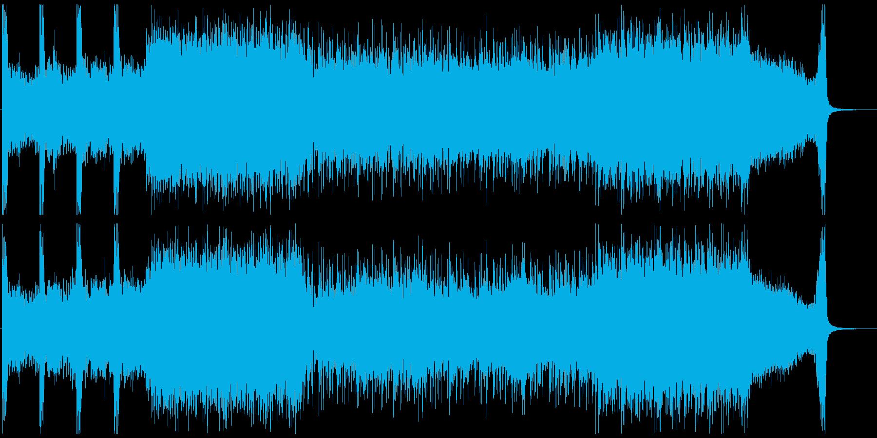 禍々しい戦闘用BGMの再生済みの波形