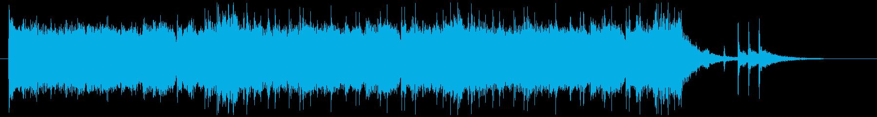 さわやかイメージのギターサウンドの再生済みの波形