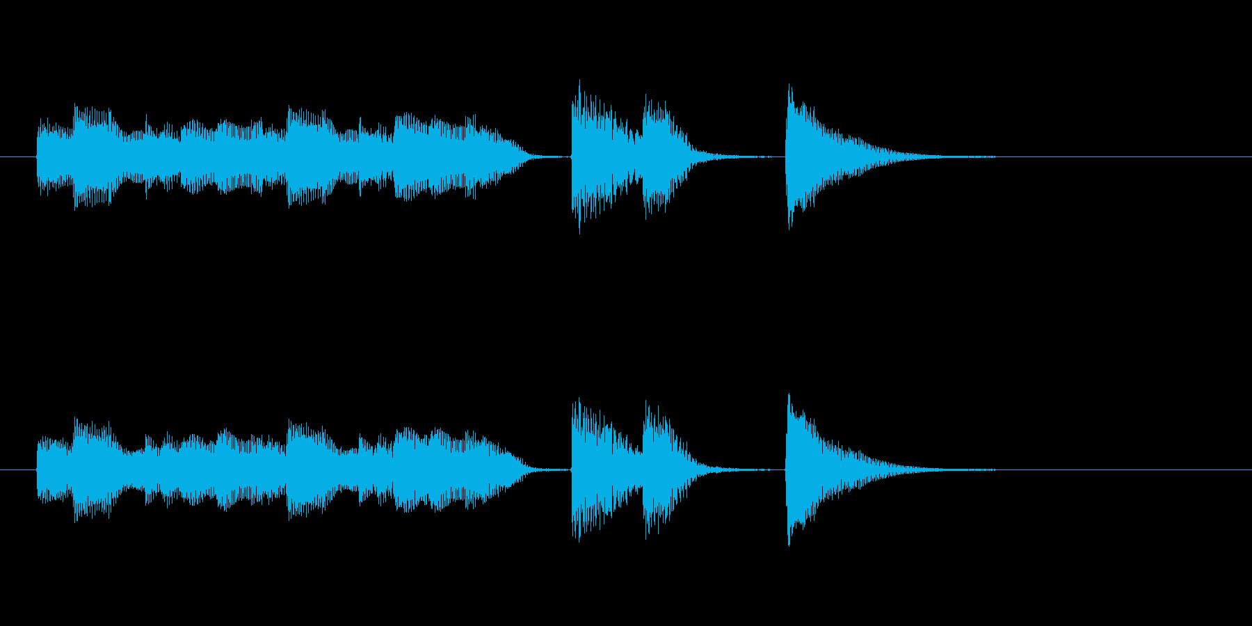 オチピアノ③ ズッコケ 場面転換の再生済みの波形