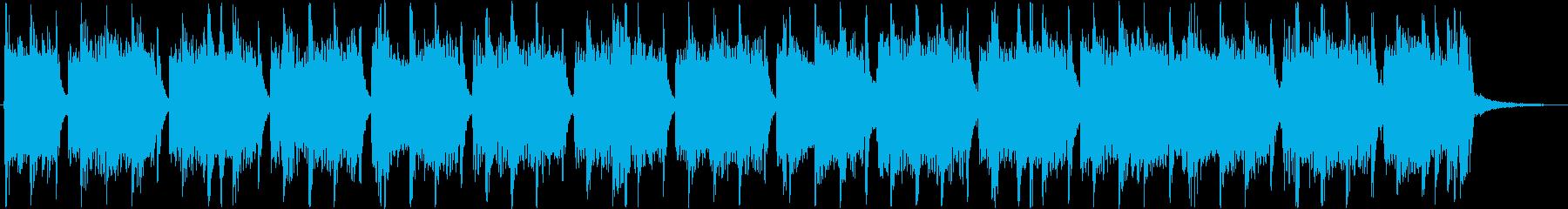 重低音がインパクトあるメロディーの再生済みの波形