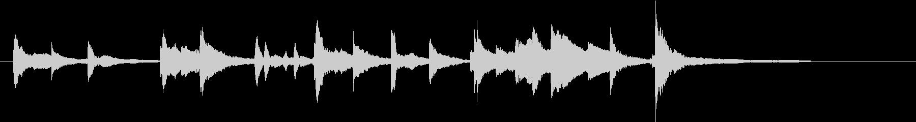 ピアノのオープニングタイトルジングルの未再生の波形