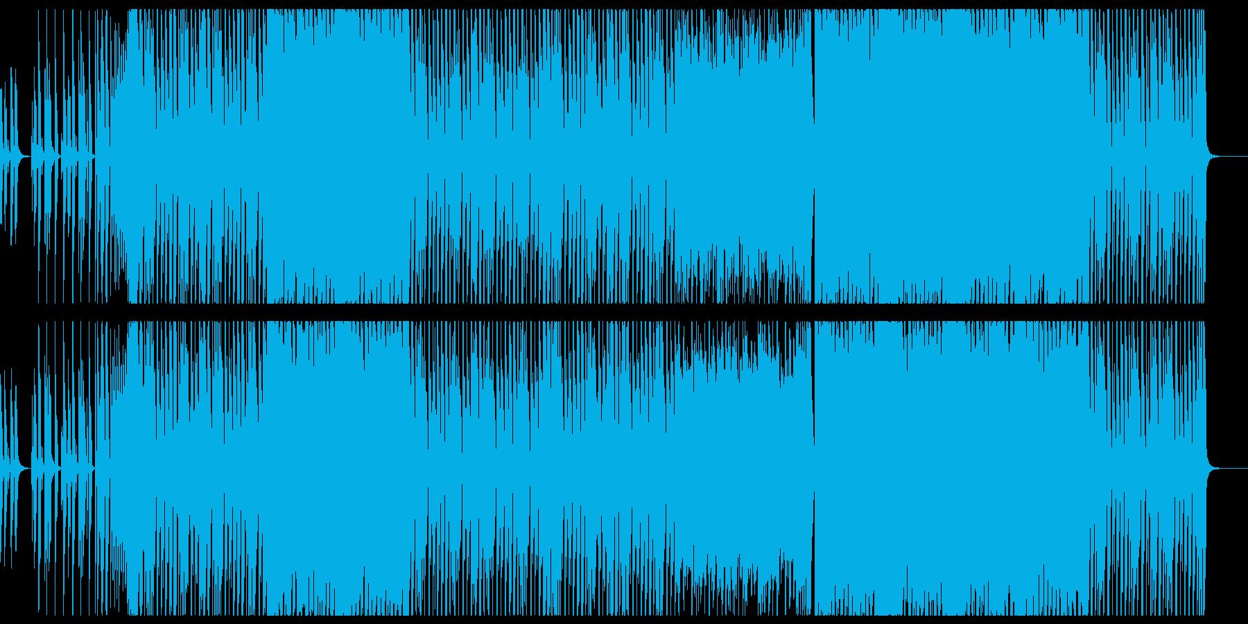 クールなギターエレクトロダンスの再生済みの波形