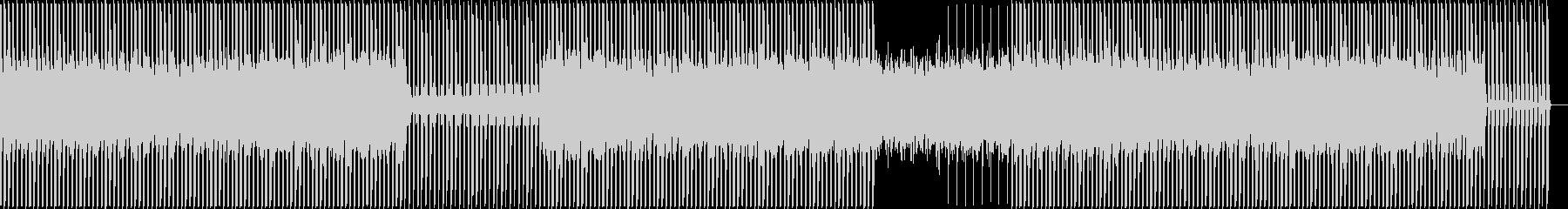 シンプルでシャープなミニマルテクノの未再生の波形