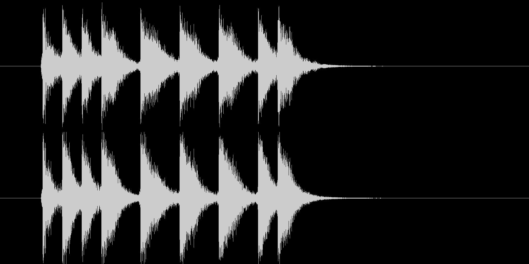 アタック音が元気な短い効果音の未再生の波形