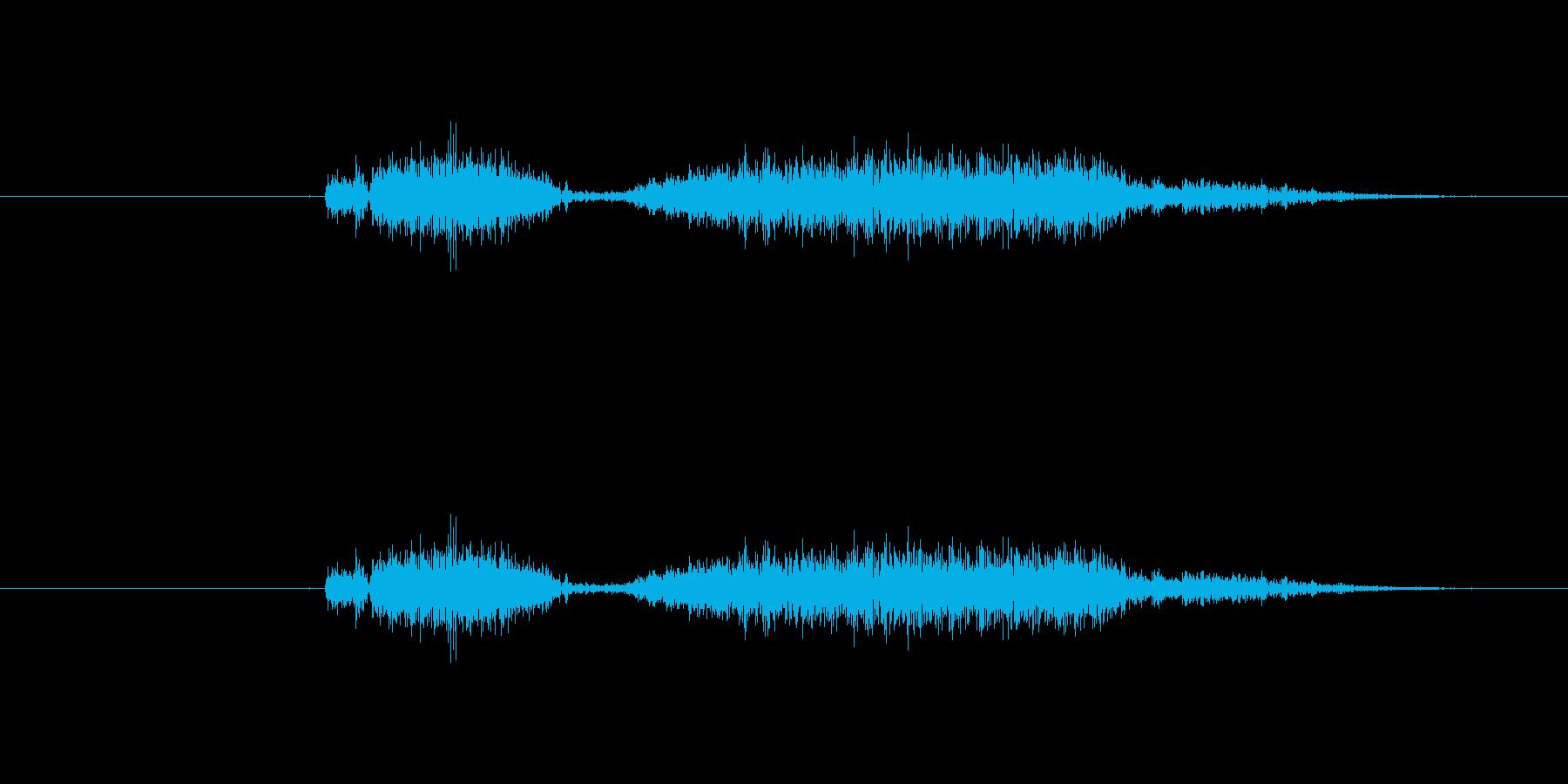 空気圧放出、非常に迅速な変動空気放出の再生済みの波形