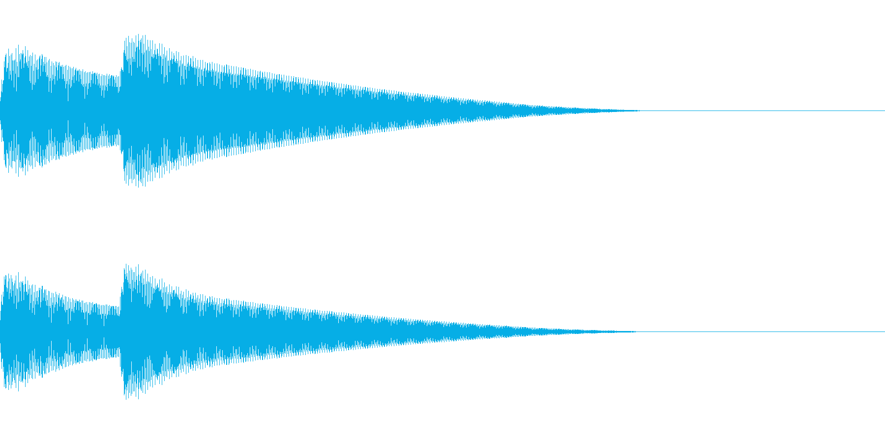 Parody スマホ音声アシスト 終了音の再生済みの波形