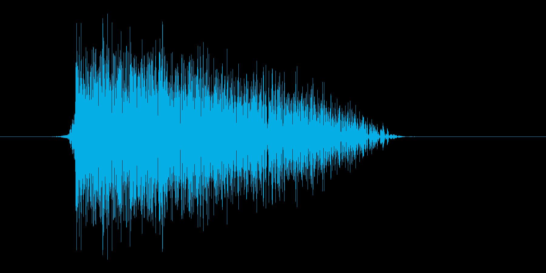 ゲーム(ファミコン風)爆発音_040の再生済みの波形
