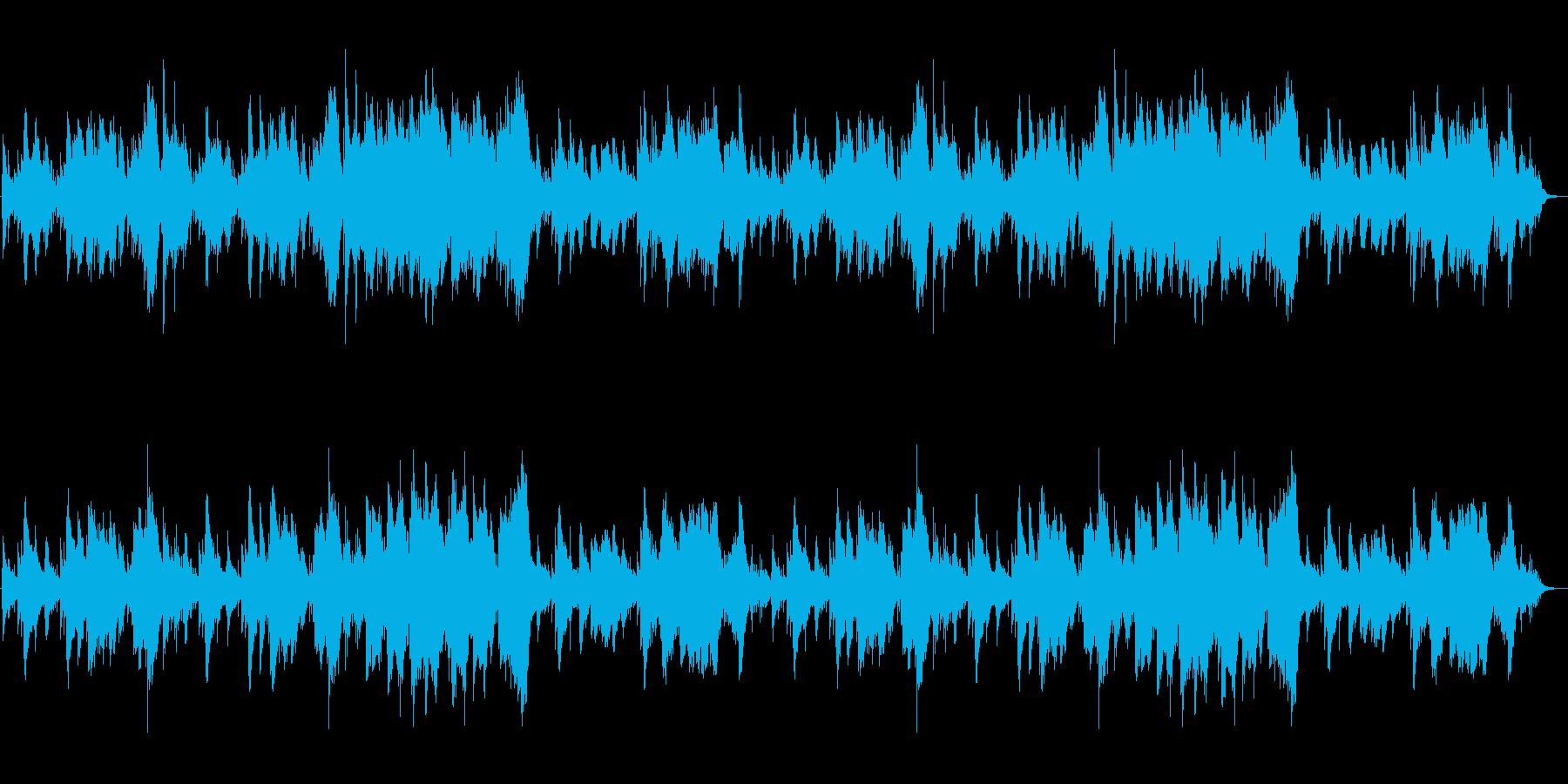 可愛らしいヒーリング・ハープの再生済みの波形