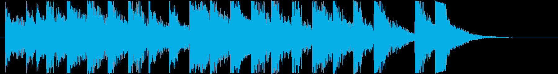 ハロウィン風オーケストラワルツロゴ♪の再生済みの波形