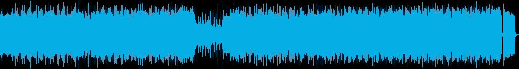 ヘビーで疾走感のある和風ロックの再生済みの波形