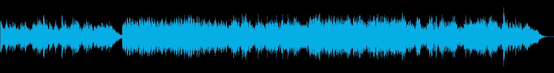 キラキラした懐かしい曲の再生済みの波形