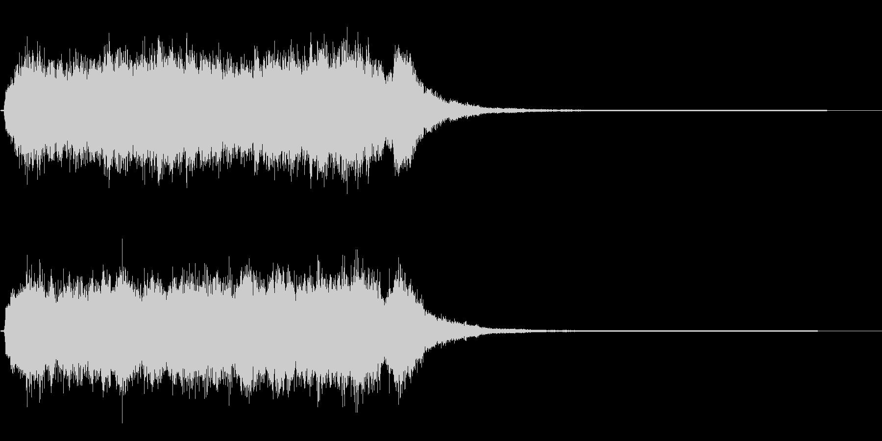 アトラクションが動き出す効果音の未再生の波形