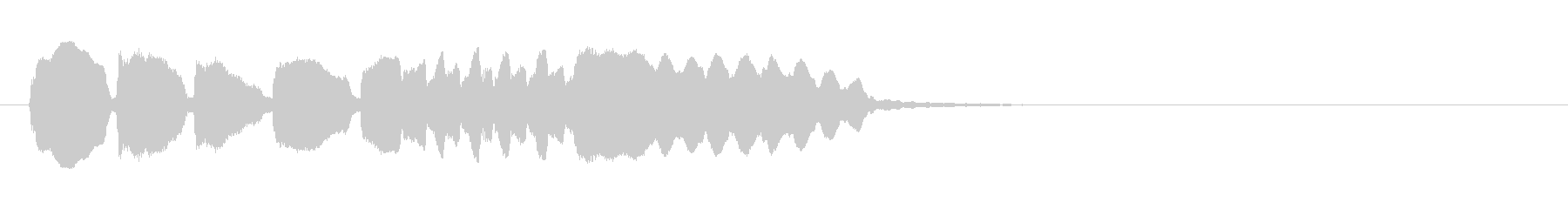 ほわほわほわ~正解者なししょんぼり効果音の未再生の波形