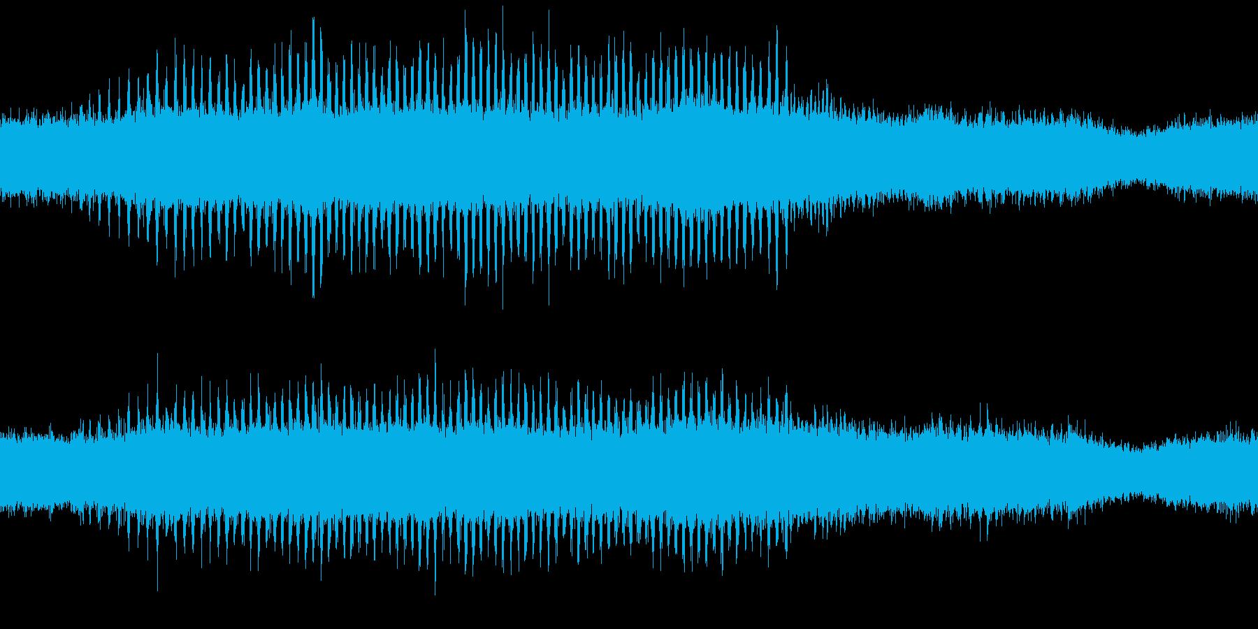 環境音蝉の鳴き声ミンミン30秒ループ処理の再生済みの波形