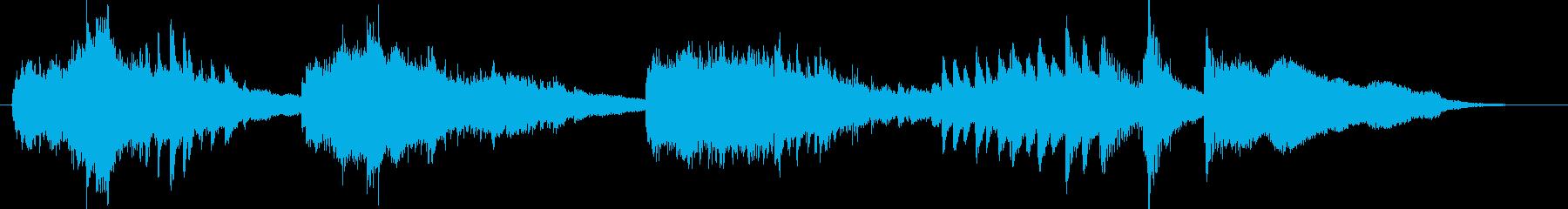 ピアノサウンドが幻想的な和風ジングルの再生済みの波形