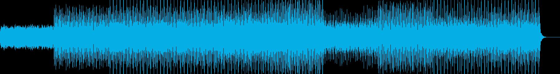 アップテンポな癒し系テクノポップの再生済みの波形