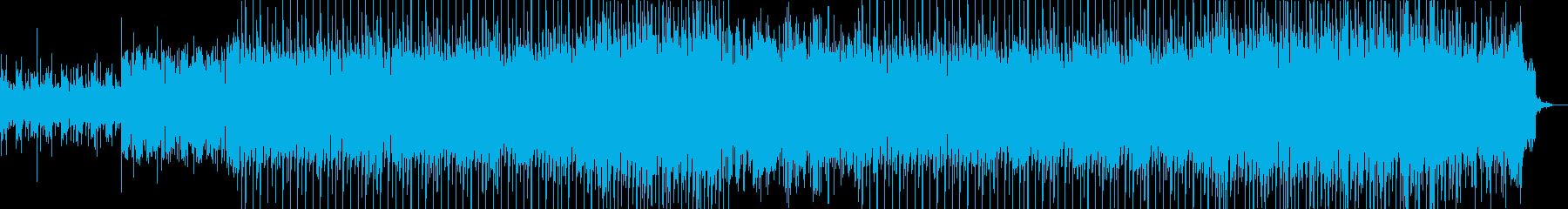 躍動的なポップハウス曲の再生済みの波形