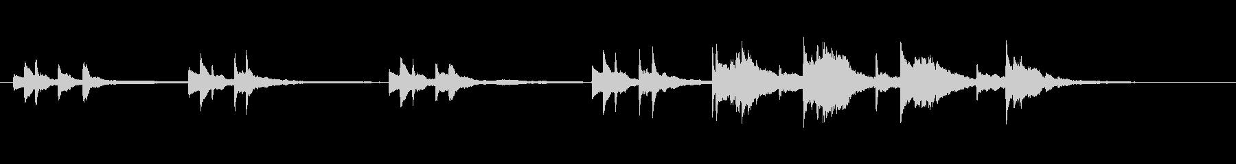 切ないピアノソロ(後半は弱め)の未再生の波形