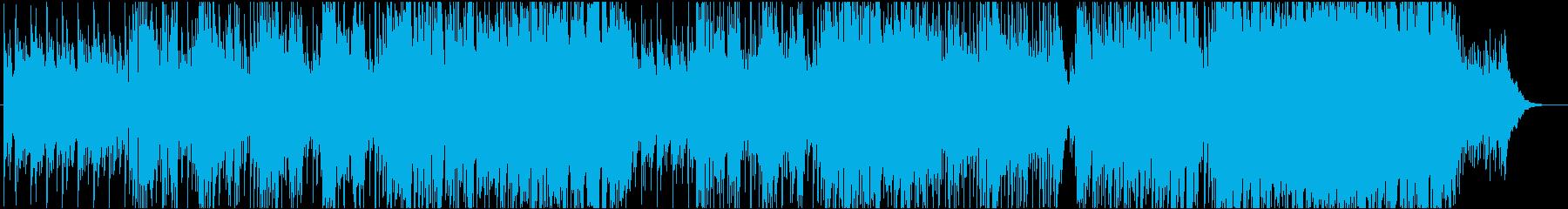 男性アメリカ人が歌う空間系アコギ英語詞曲の再生済みの波形