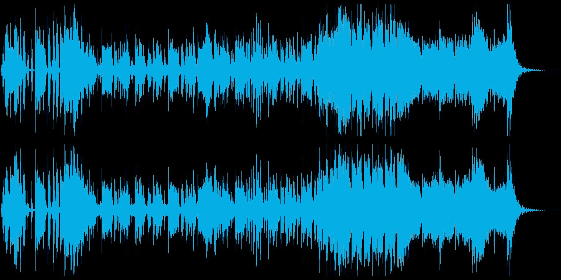 不気味な雰囲気のジャズの再生済みの波形
