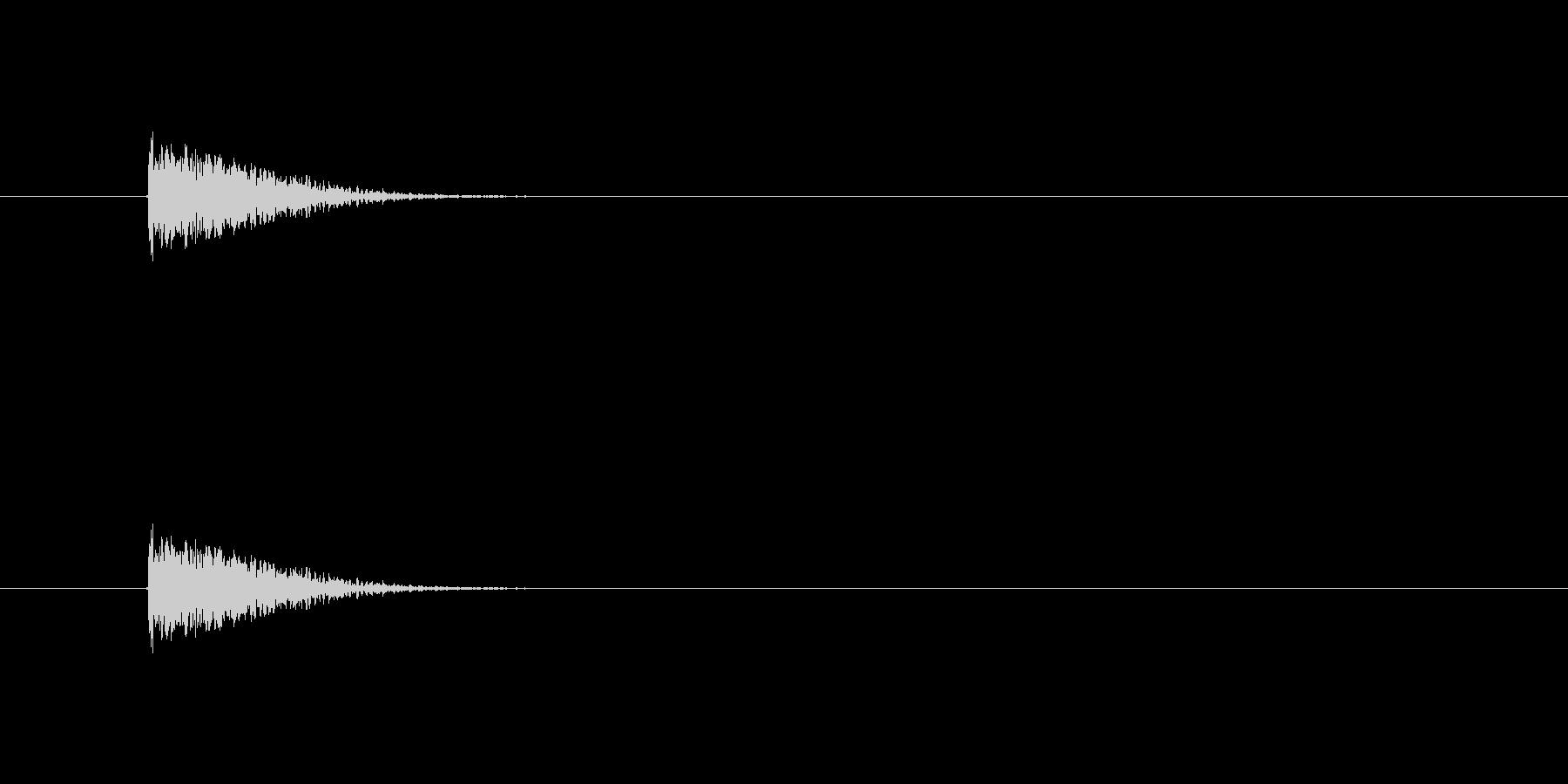 【カスタネット02-4】の未再生の波形