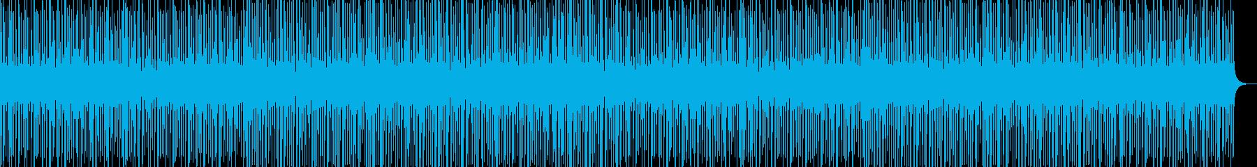 疾走感のある民族感のあるドラムビートの再生済みの波形