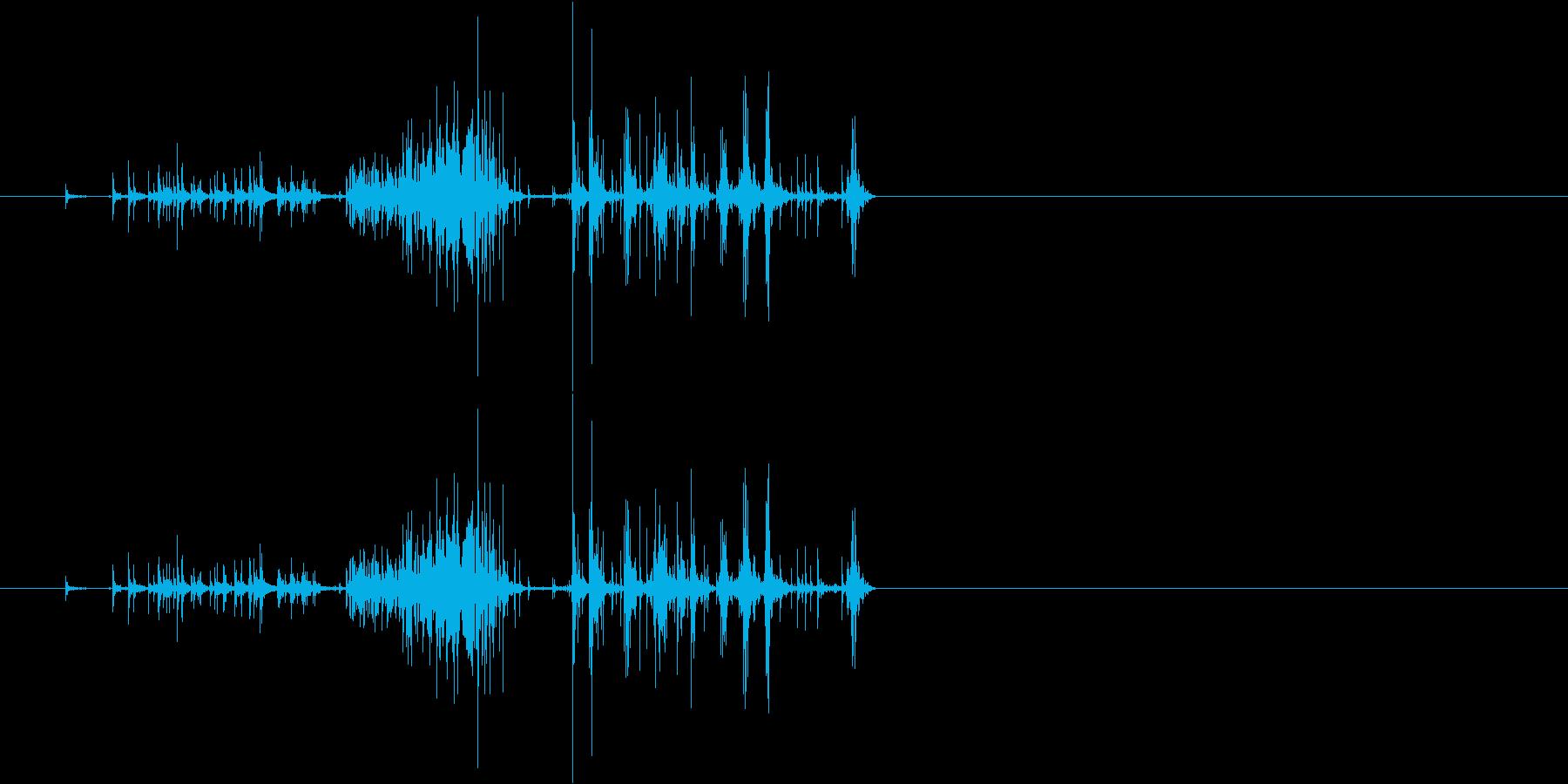 面ファスナー・バリバリと剥がす音の再生済みの波形