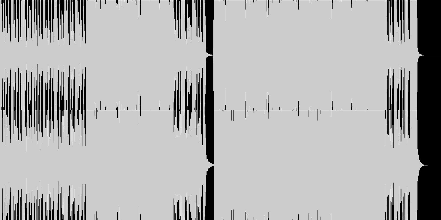 パワフルでダイナミックなロックサウンドの未再生の波形