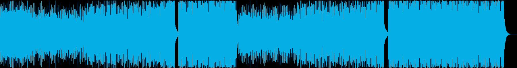 別れ、切ない、シンセ音、4つ打ちの曲の再生済みの波形