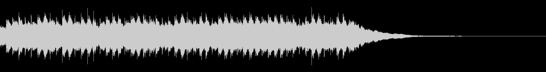 かわいい音色のハンドベルのアラーム音の未再生の波形