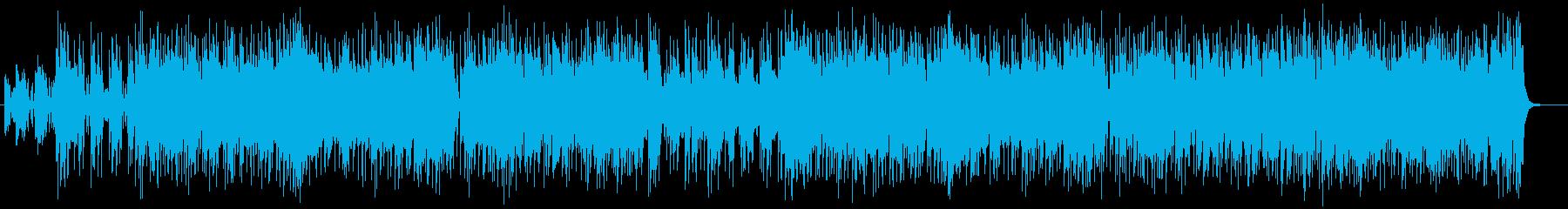 軽やかでノリの良いポップス風BGMの再生済みの波形