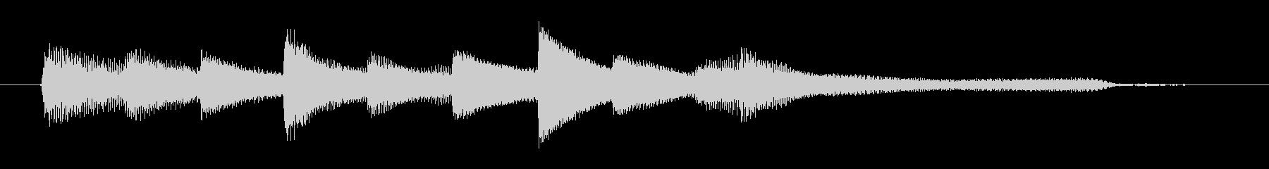 チャプター・場面転換等にピアノジングルFの未再生の波形