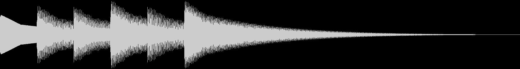 正解音 ピロピロピローン(スタンダード)の未再生の波形