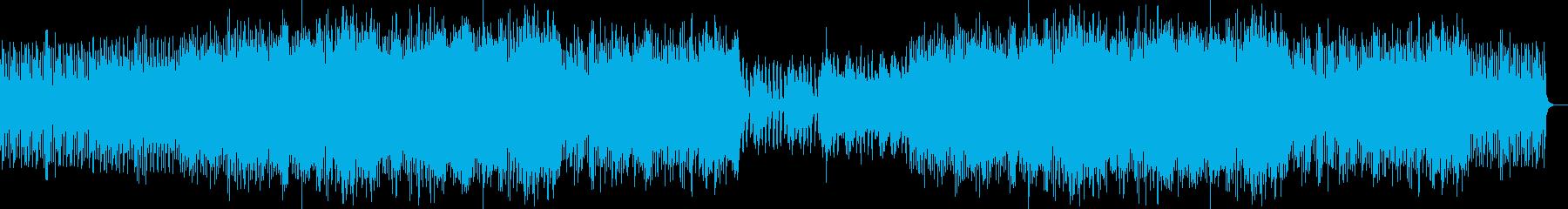 ほのぼのしたピアノとオーケストラの再生済みの波形